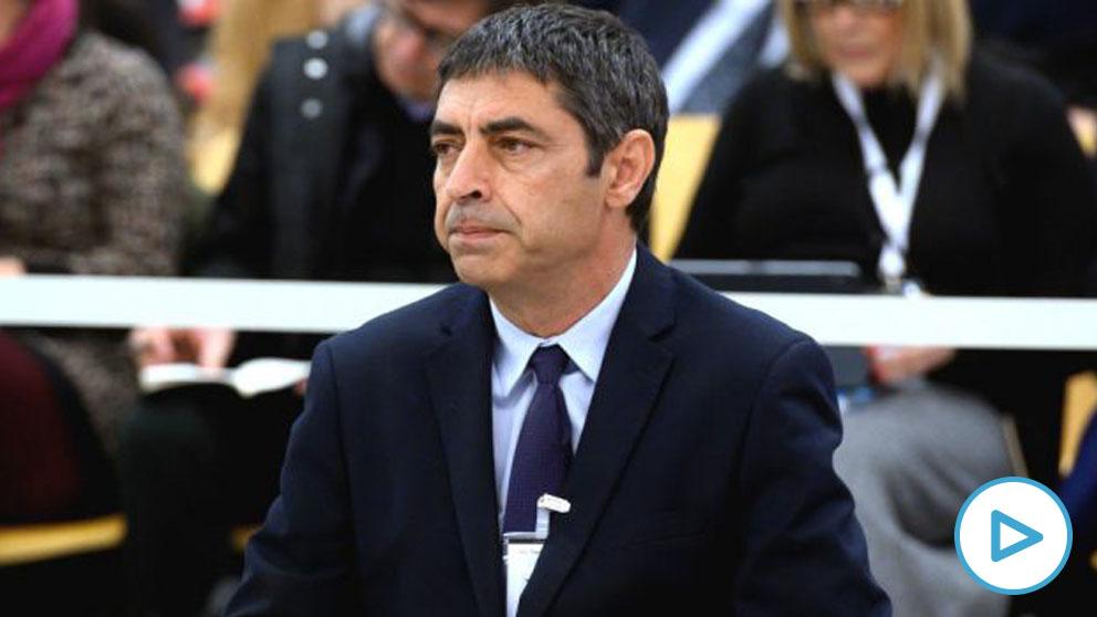 El ex mayor de los Mossos d'Esquadra, José Luis Trapero, durante la primera jornada del juicio en el que se le acusa de rebelión, por los hechos ocurridos durante el 1-O, en la Audiencia Nacional. (Foto- Europa Press)
