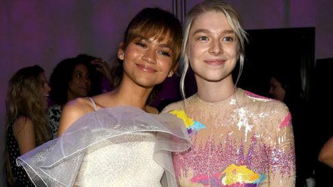Las actrices Zendaya y Hunter Schafer durante el estreno de la serie 'Euphoria' de HBO en 2018. Foto: AFP