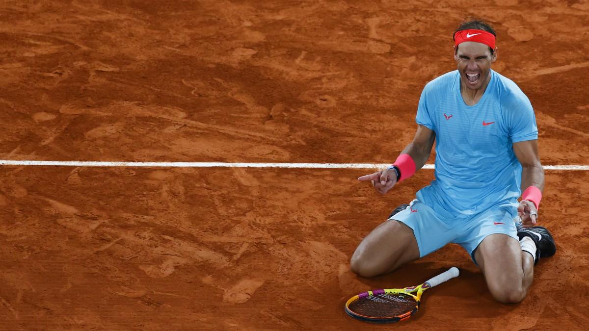 Nadal, tras vencer en Roland Garros. (AFP)