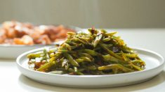 Receta de Judías verdes cocinadas con semillas de sésamo