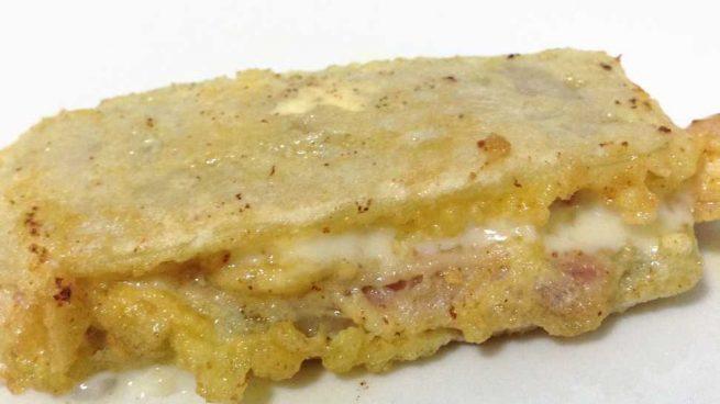 Pencas de espinacas con crema de mostaza