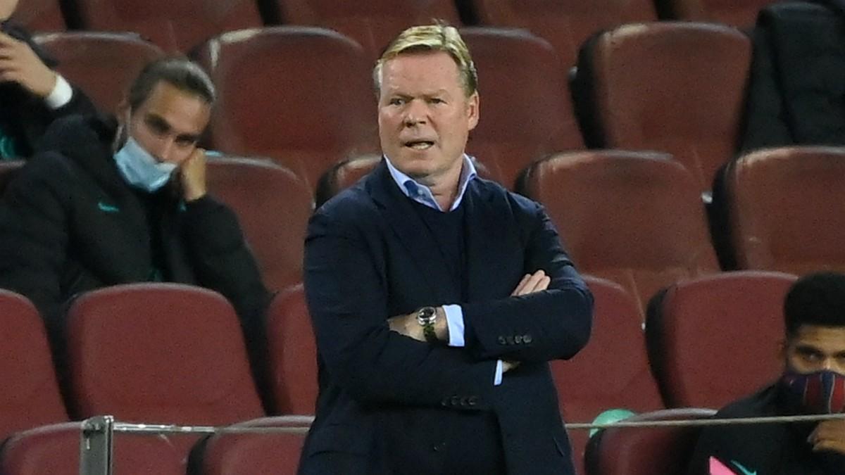 Roland Koeman, durante el partido ante el Ferencvaros húngaro en Champions League. (AFP)