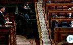 El líder de Vox, Santiago Abascal durante su intervención en la moción de censura de su partido al gobierno de coalición en el Congreso de los Diputados este miércoles. EFE/Mariscal