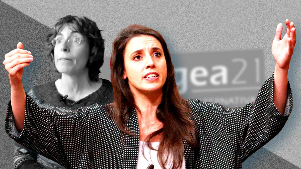 María Naredo junto a Irene Montero.