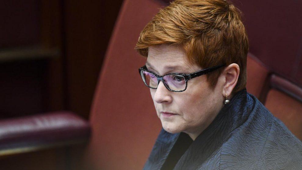 La ministra de Exteriores de Australia, Marise Payne