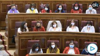 diputadas Podemos distancia seguridad moción de censura vox