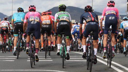 El pelotón en la segunda etapa de la Vuelta a España.