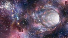 Agujeros negros y galaxia atrapada