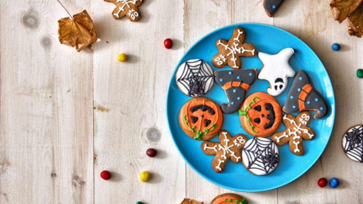 Distintas decoraciones para las galletas de Halloween que podemos hacer con los niños