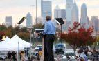 Barack Obama reaparece en Filadelfia en apoyo de Joe Biden (Foto: AFP)