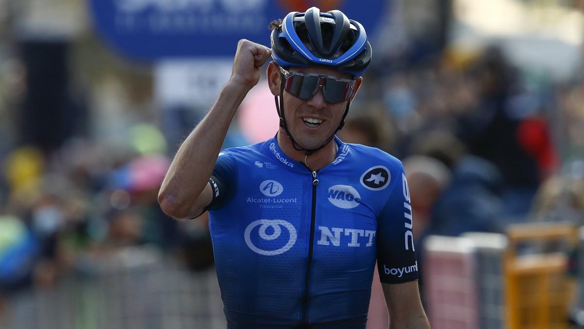 Ben O'Connor, ganador de la etapa 17 del Giro de Italia. (AFP)
