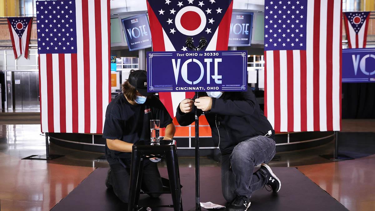 Centros de votación para las elecciones en EEUU en Ohio (Foto: AFP)