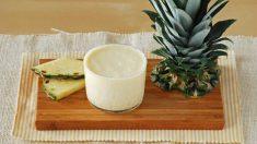 Receta de Batido de piña con leche de avena
