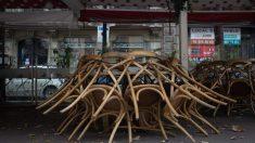 Terraza de bar recogida. Foto: EP