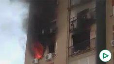 Piso incendiado en Montequinto (Sevilla)