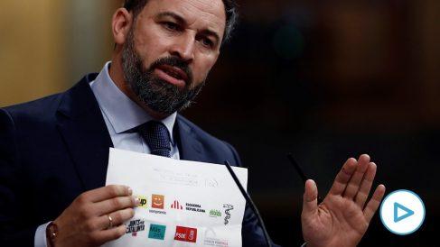 Abascal reprocha a Casado que vote lo mismo que ERC y Bildu, firmantes con PSOE y Podemos de un manifiesto para amordazar a Vox.