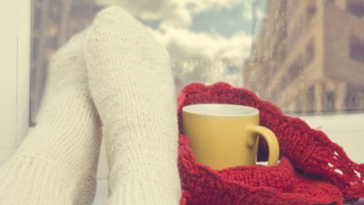 Calentar los pies en otoño