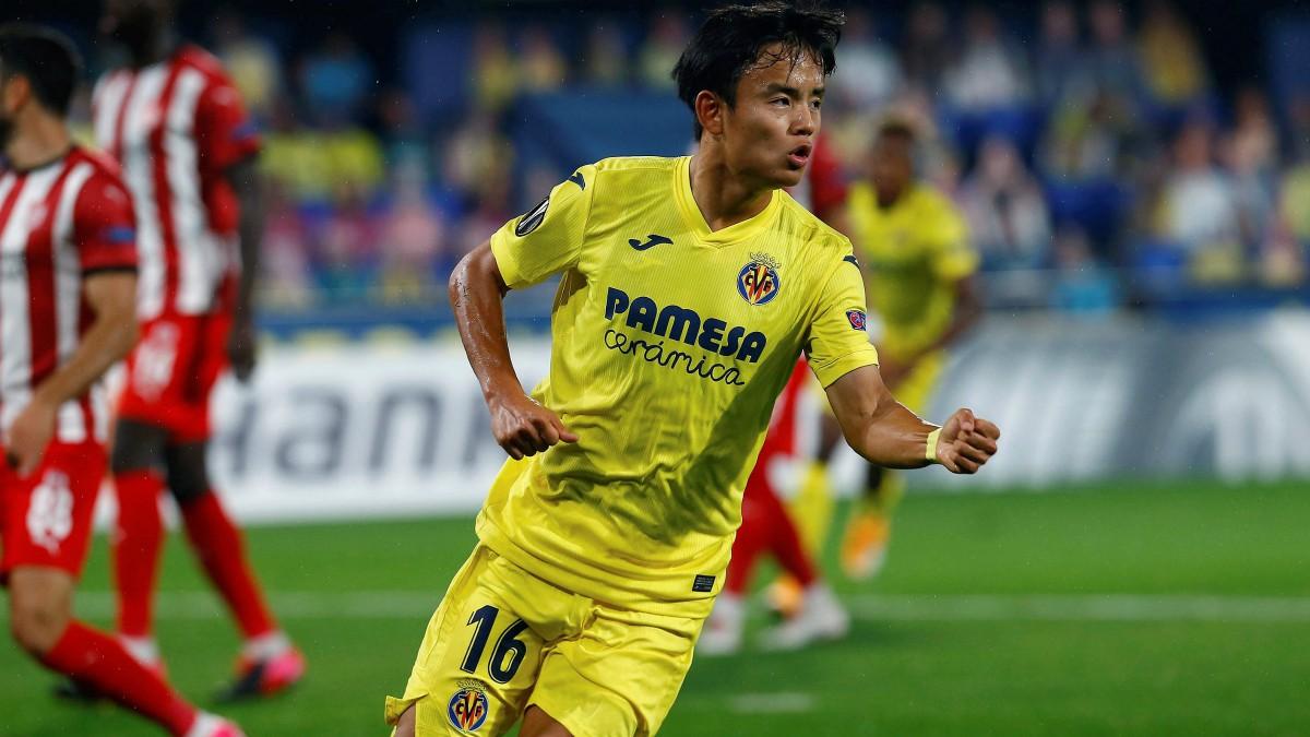 Kubo celebra un gol con el Villarreal. (EFE)
