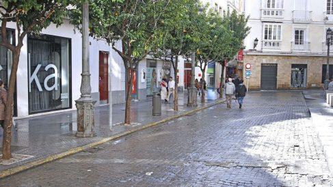 Calle comercial de Cádiz