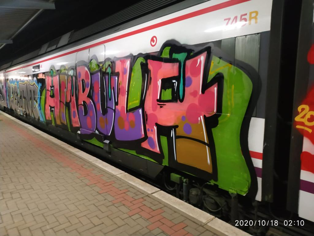 Grafiti en Renfe
