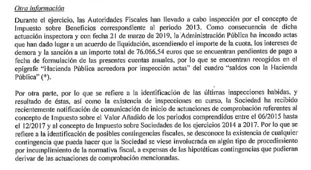 Hacienda sancionó con 77.000 € a Cárnicas Joselito por irregularidades en el Impuesto de Sociedades