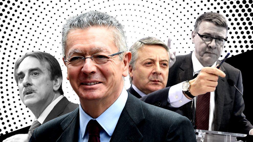Gallardón, Blanco, Sevilla y Gómez, ex ministros de PP y PSOE.