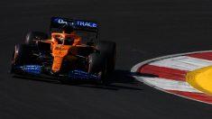 Carlos Sainz durante la sesión de clasificación del Gran Premio de Portugal. (AFP)