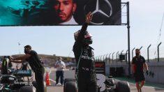 Lewis Hamilton logra la pole en la sesión de clasificación del Gran Premio de Portugal. (AFP)