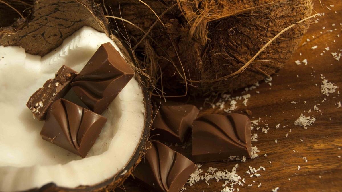 Bombones de chocolate y coco fáciles de preparar