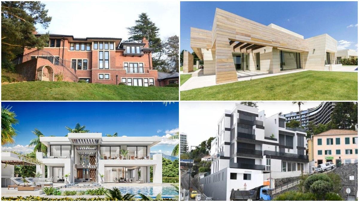Cuatro espectaculares viviendas de Cristiano Ronaldo.