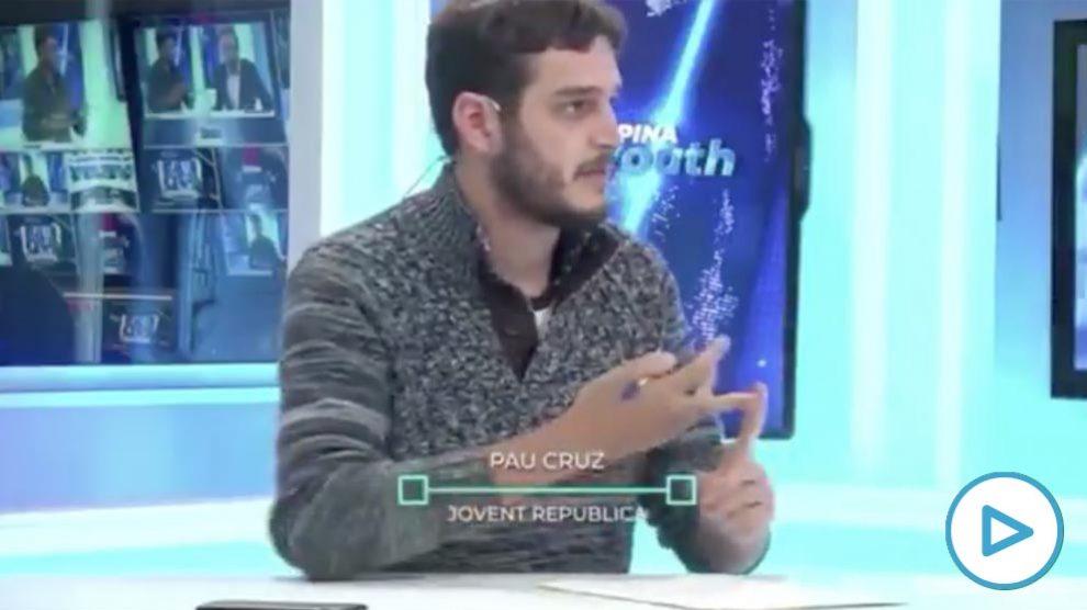 Pau Cruz, miembro de las Juventudes de ERC.