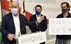 El alcalde de Antequera, Manuel Barón, en rueda de prensa.