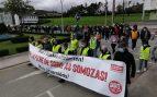 200 personas se manifiestan en As Somozas (A Coruña) contra la deslocalización de la planta de Siemens Gamesa