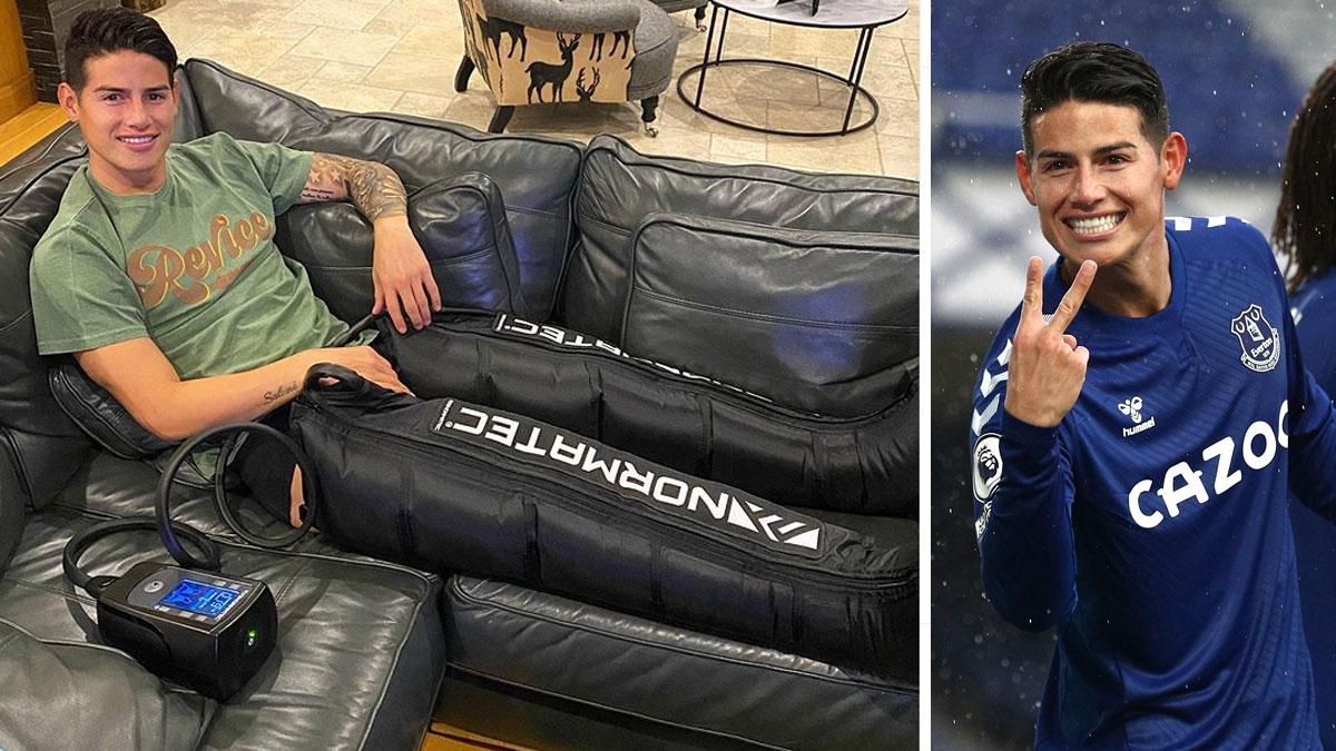 James Rodríguez apura la recuperación para estar en el próximo partido del Everton (Instagram/Getty)