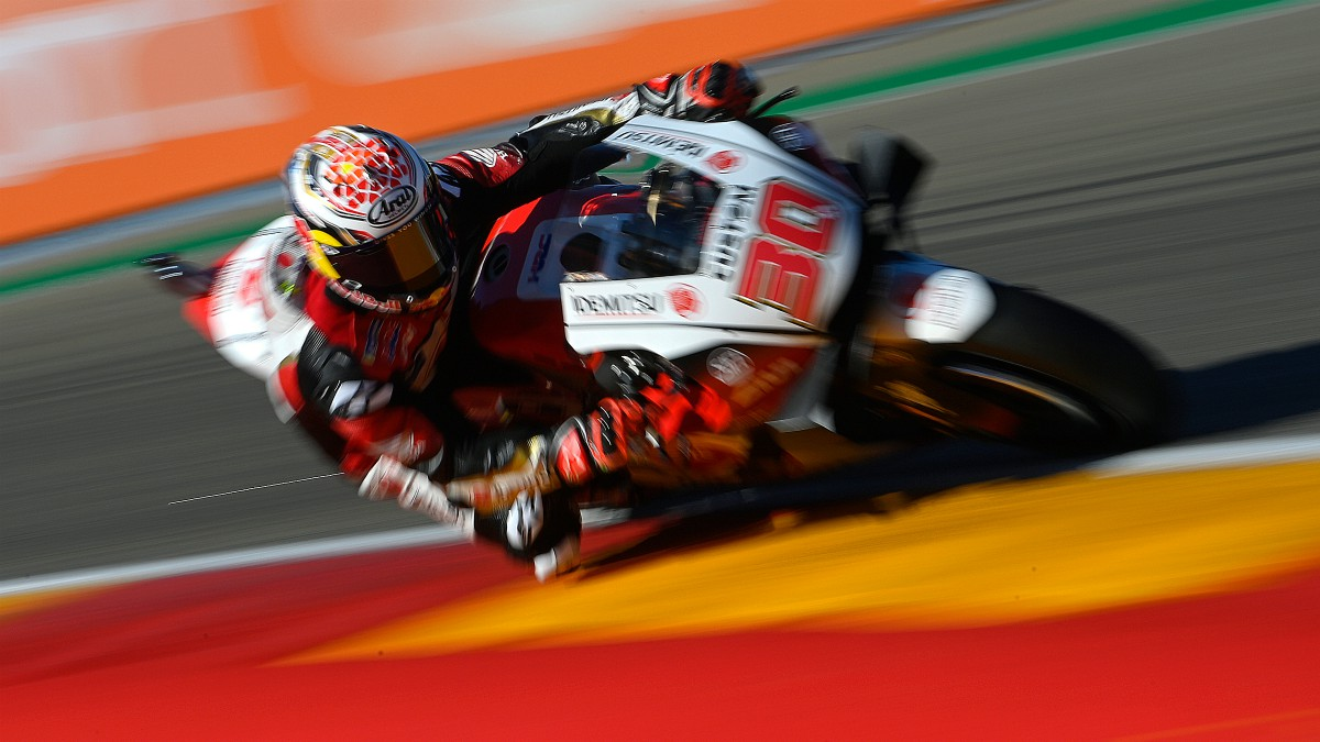Nakagami firmó la pole en el GP de Teruel de MotoGP. (AFP)