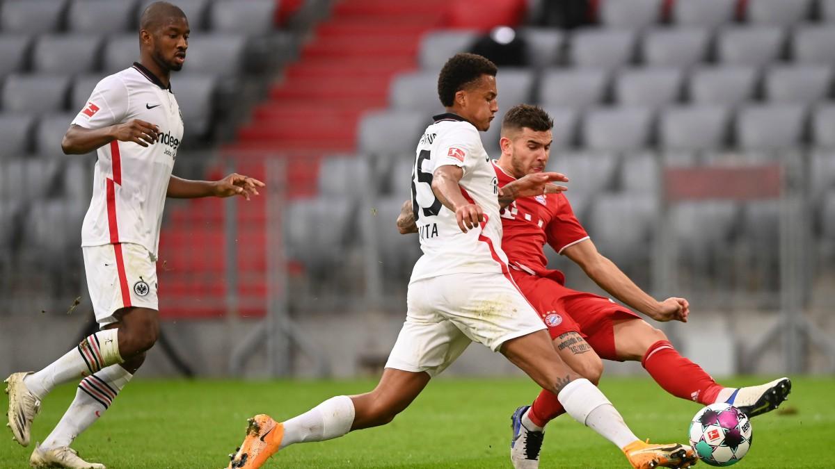 Imagen del duelo entre Bayern y Eintracht de Frankfurt. (Getty)