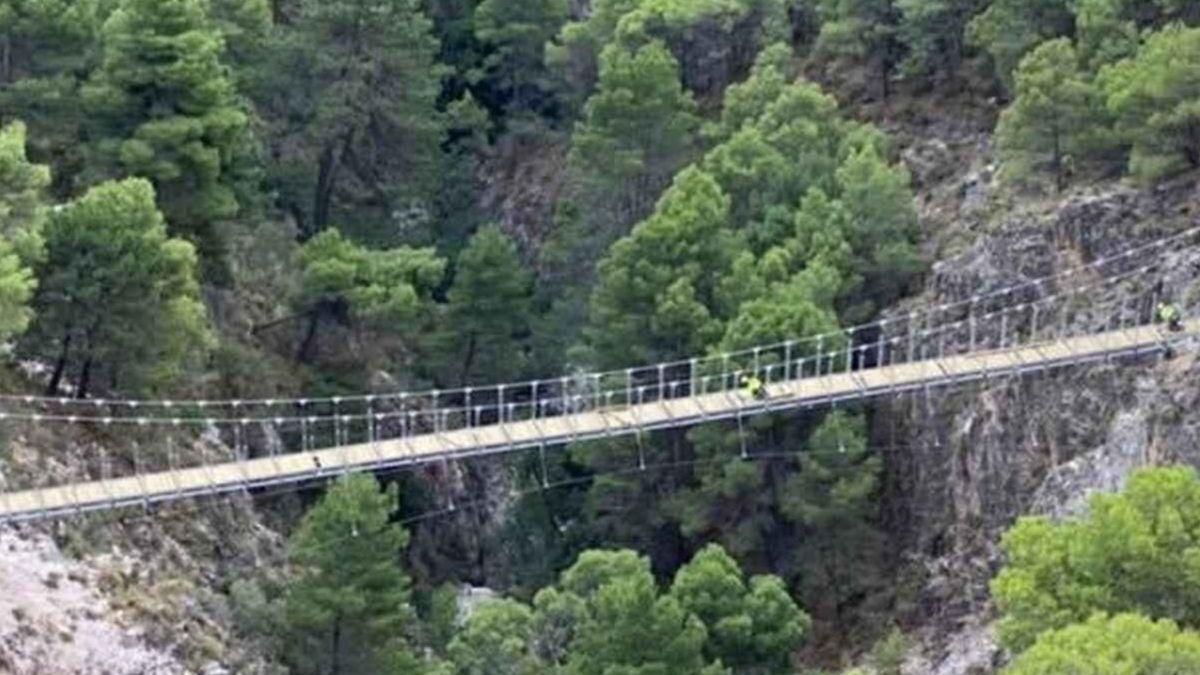 Puente colgante Málaga