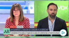 Santiago Abascal durante una entrevista en el Programa de Ana Rosa