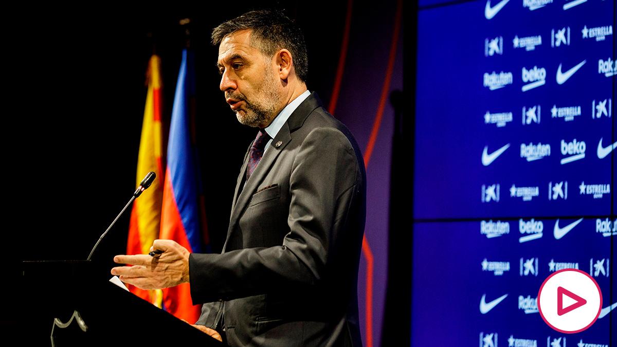 Josep María Bartomeu, durante un acto. (Foto: EFE)