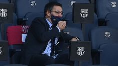 Bartomeu, en el Clásico del Camp Nou (AFP)