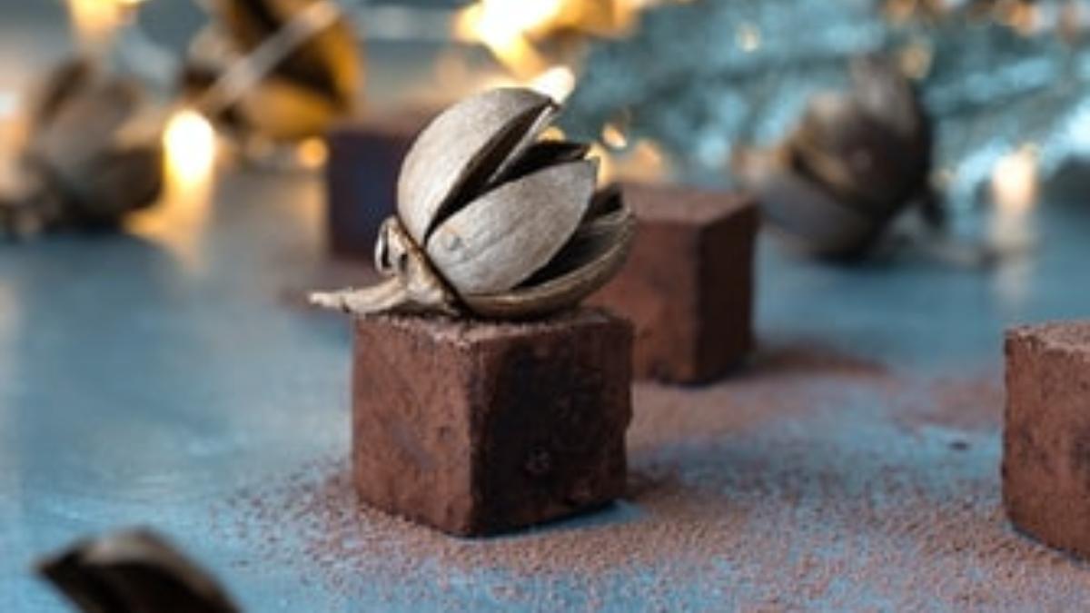Bombones de chocolate y calabaza