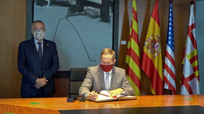 El cónsul general de EEUU visita la sede del Consorci de la Zona Franca de Barcelona