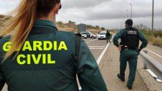 Control de la Guardia Civil para cumplimiento del confinamiento perimetral. Foto: EP