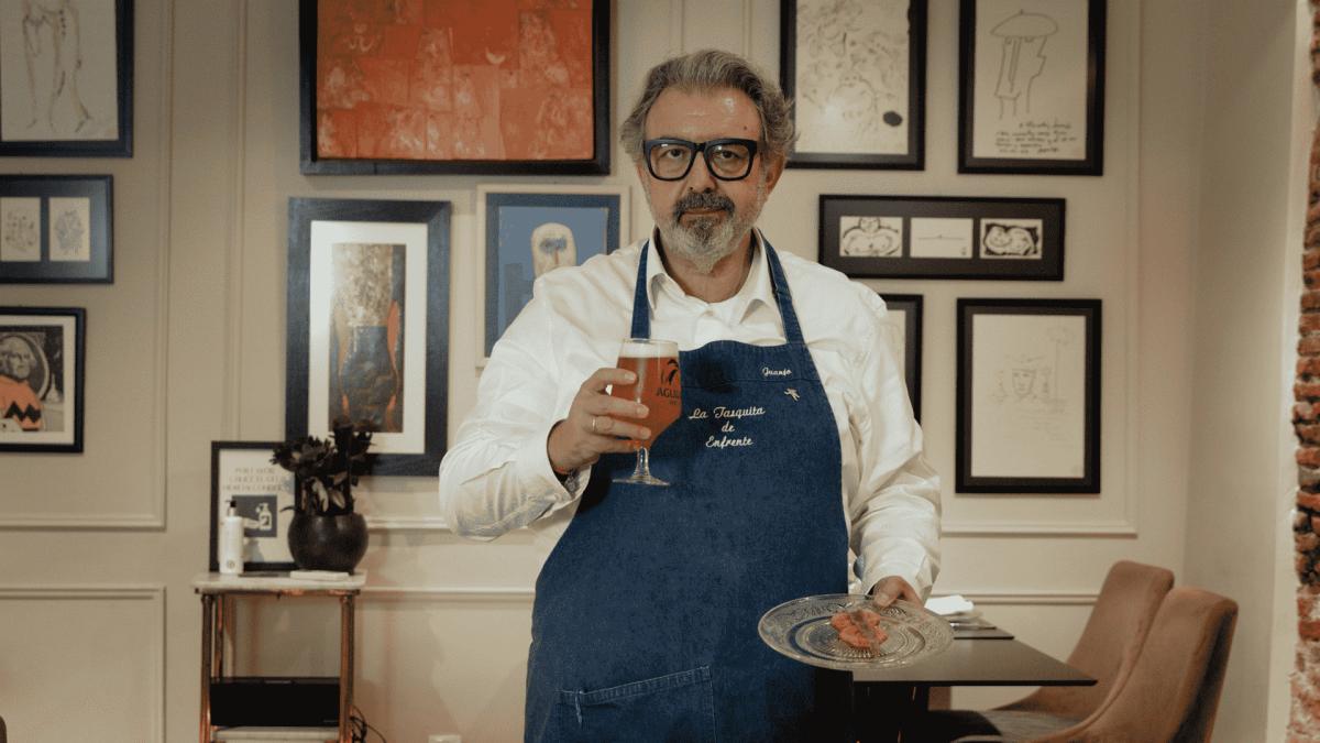 El chef Juanjo Lopez y Cervezas El Aguila