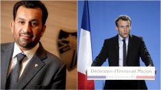 Al-Thani y Emmanuel Macron.