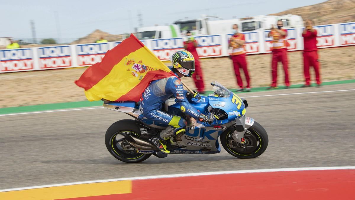 Joan Mir tras el GP de Teruel de MotoGP. (Getty)