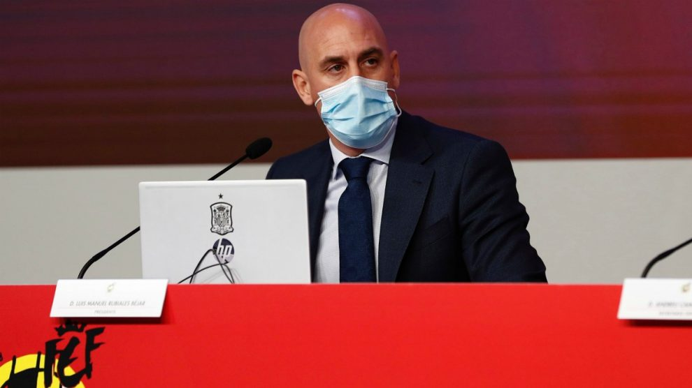 Luis Rubiales, presidente de la Real Federación Española de Fútbol. (EFE)