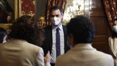 Sánchez, este lunes en el Senado, antes de la conferencia de presidentes autonómicos.