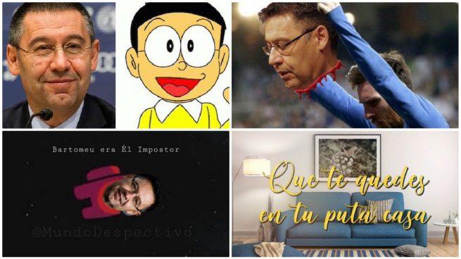 Los mejores memes de la dimisión de Bartomeu: Nobita, la cabeza de premio de Messi, Roncero llorando…