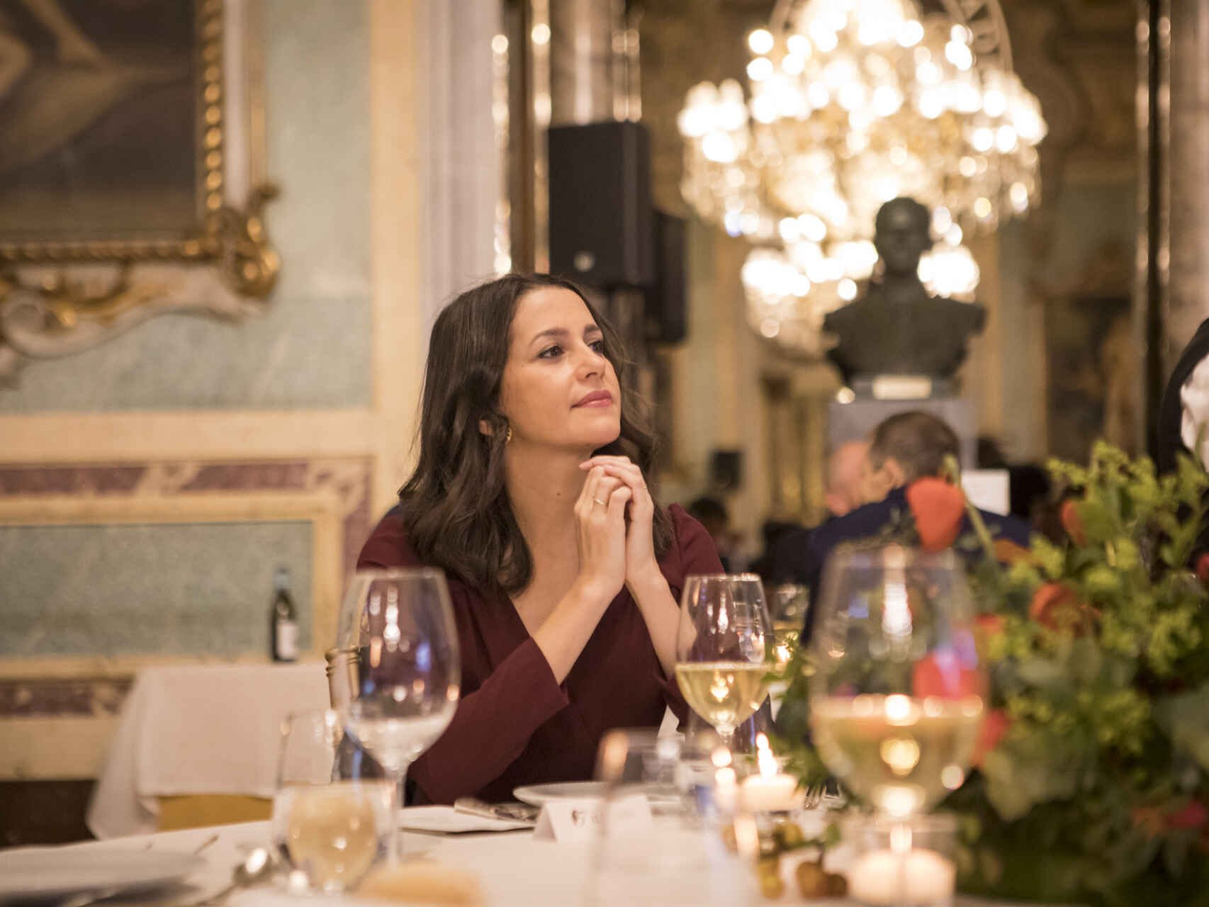 Inés Arrimadas sin mascarilla. (Foto: 'El Español')